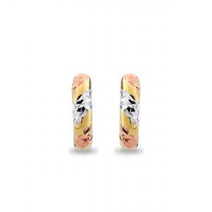 9K Mix Gold Hoop Earrings – 8E2011M
