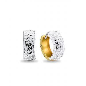 9K Mix Gold Hoop Earrings – 8E2152M