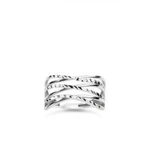 9K White Gold Ring – 8R1054