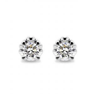 9K White Gold Diamond Earrings – DE6125